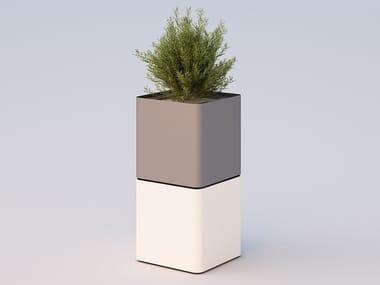 High galvanized steel Flower pot CUBIK | High Flower pot