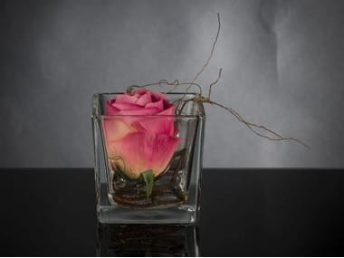 Artificial plant CUBO ROSA TOUCH