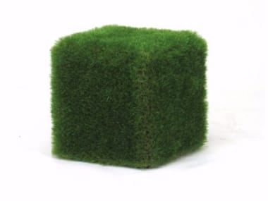 EPS outdoor chair covered with synthetic grass CUBOTTO