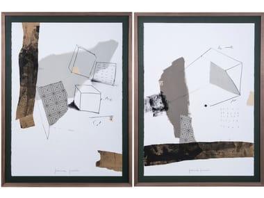 Quadro in carta Cubus I & II