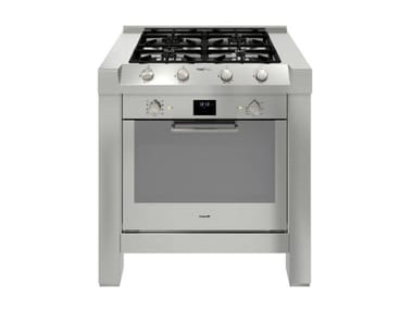 Stainless steel Kitchen unit for hob MILANO 4F 90 cm INOX