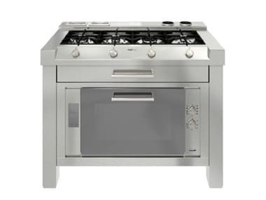 Küchenelement aus Edelstahl MILANO 4F LINEA 2V+2T