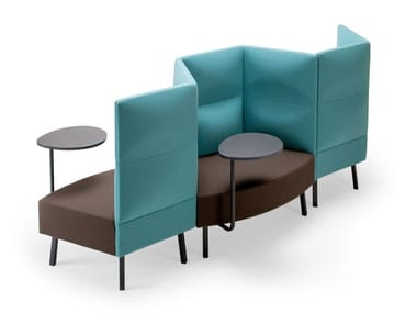 High-back fabric small sofa CUMULUS | High-back small sofa