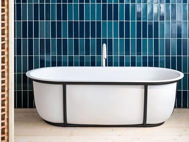Freestanding oval Solid Surface bathtub CUNA