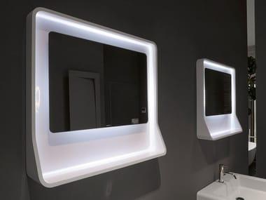 Rectangular framed wall-mounted mirror CUPIDO72