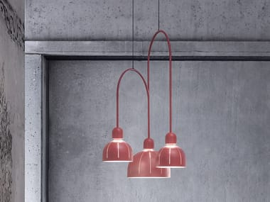 LED metal pendant lamp CUPOLE ANG 3