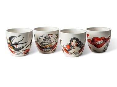 Ceramic cups set TATTOO | Cups set