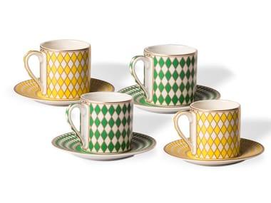 Set di tazze da caffè in porcellana CHESS | Set di tazze da caffè