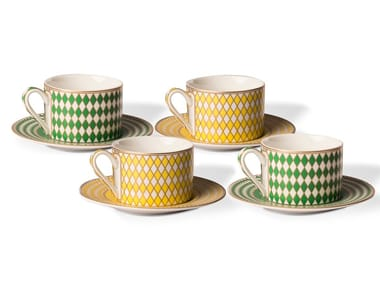 Set di tazze da tè in porcellana CHESS | Set di tazze da tè