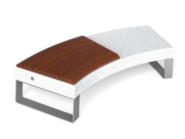 Panchina curva in HPC senza schienale DIAMANTE ACCESSORIES W   Panchina curva