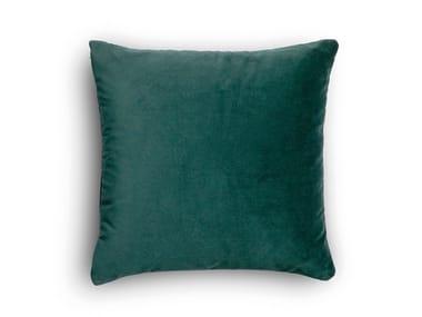 Solid-color square fabric cushion CUSCINETTO A SAPONETTA   Solid-color cushion