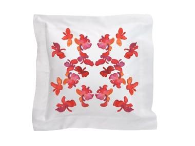 Cuscino quadrato in cotone con motivi floreali BUTTERFLY | Cuscino