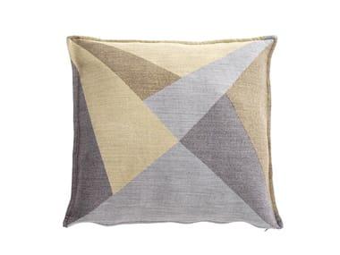 Cuscino quadrato in tessuto a motivi geometrici POLICROMI | Cuscino