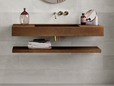 Porcelain stoneware bathroom wall shelf CUT