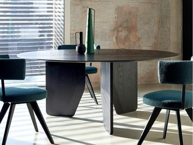 Round solid wood table CUT | Round table