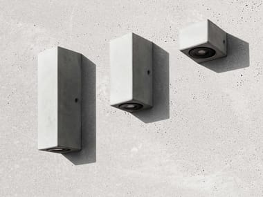 LED indirect light concrete wall lamp D | Wall lamp
