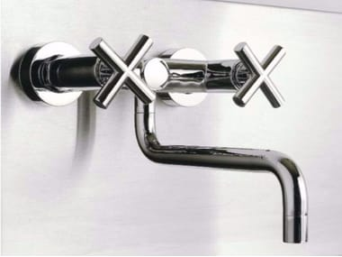 Wall-mounted kitchen tap with swivel spout DA-DA | Wall-mounted kitchen tap