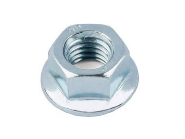 Dado in acciaio zincato Dado autobloccante flangiato e zigrinato