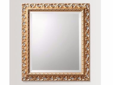 Rectangular wall-mounted framed mirror DAISY