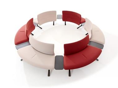 Curved modular fabric sofa DAISY