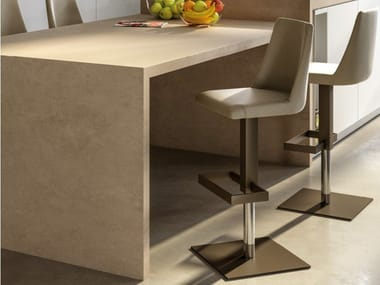 Stool with gas lift with footrest DALLAS