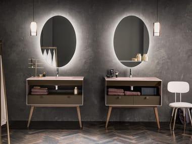 Floor-standing Dualite® vanity unit DAMA | Vanity unit