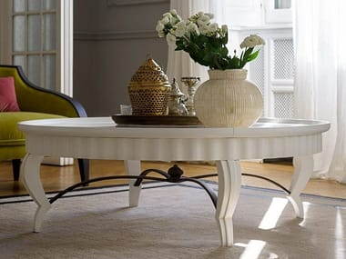 Lacquered wood and glass coffee table DAMA | Lacquered coffee table