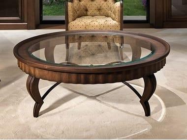 Round oak coffee table DAMA | Oak coffee table