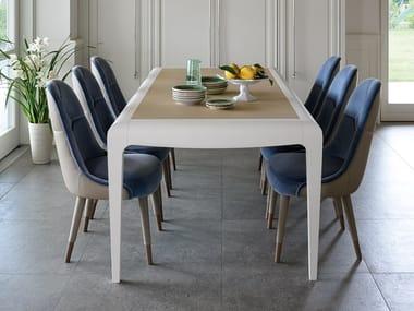 Extending rectangular wooden table DAMA | Table