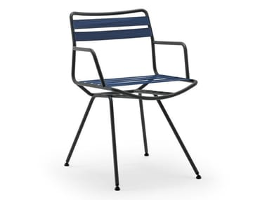 Steel chair with armrests DAN 2058