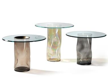 Tavolino rotondo in vetro DANDOLO | Tavolino