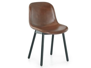 Upholstered leather chair DANI | Leather chair