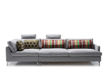 3 seater fabric sofa with removable cover with headrest DAVE | 3 seater sofa