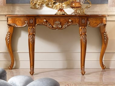 Demilune wooden console table DAVID | Console table