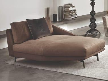 Upholstered Nabuk day bed URBAN | Day bed