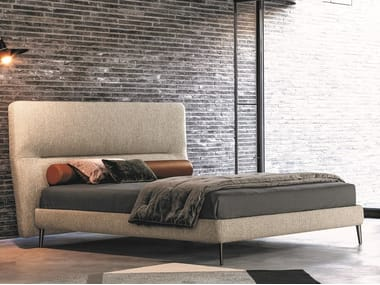 Double bed with upholstered headboard DE-LIGHT