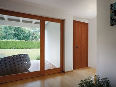 Hinged solid wood door DE SIMONE
