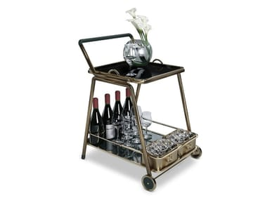 Brass drinks trolley DECATUR