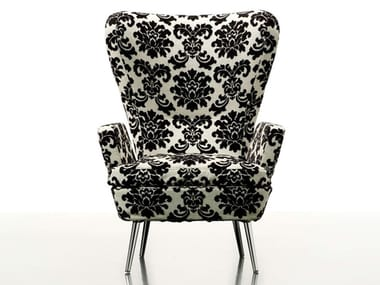 Wing fabric armchair DECO
