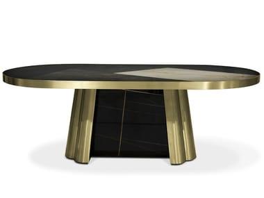 Oval marble table DECODIVA