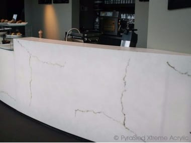 Barra de bar de Faux Translucent Stone FAUX TRANSLUCENT STONE | Barra de bar