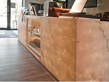 Faux Translucent Stone Office reception desk FAUX TRANSLUCENT STONE | Office reception desk