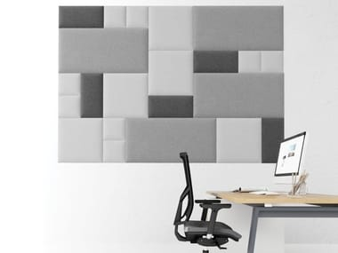 Contemporary style fabric Decorative acoustic panel HUSH PADS | Decorative acoustic panel