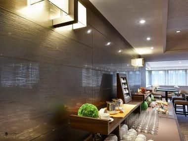 Decorated glass wall tiles DECORFLOU® DESIGN FUZ