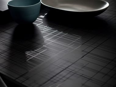 Decorated glass Table Top DECORFLOU® DESIGN LI