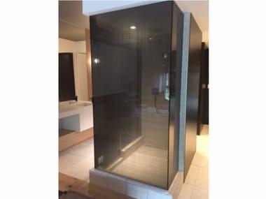 Free standing decorated glass shower cabin DECORFLOU® DESIGN MANHATTAN