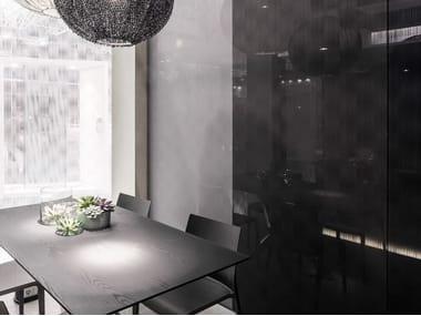 Decorated glass wall tiles DECORFLOU® DESIGN NUVEM