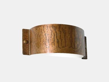Direct-indirect light copper Outdoor wall Lamp DECORI 252.01.RR/252.02.RR