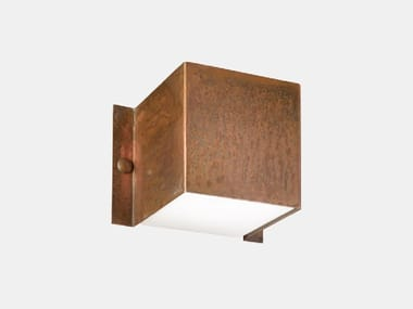 Direct-indirect light copper Outdoor wall Lamp DECORI 252.05.RR