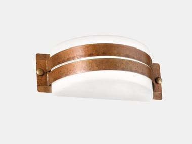 Direct-indirect light copper Outdoor wall Lamp DECORI 252.06.RR/252.07.RR